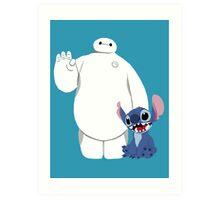 Baymax and Stitch Art Print