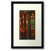 Stained Glass Glow Framed Print