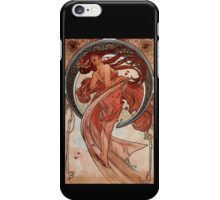 'Dance' by Alphonse Mucha (Reproduction) iPhone Case/Skin