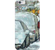 WALKING THROUGH THE SNOW VERDUN MONTREAL WINTER STREET SCENE iPhone Case/Skin