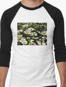 A Field of Flowers Men's Baseball ¾ T-Shirt