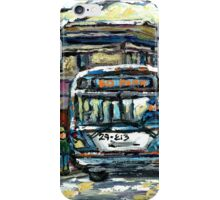 MONTREAL WINTER SCENE WAITING FOR THE 80 BUS iPhone Case/Skin