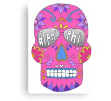 Alpha Phi Pink Skull Canvas Print