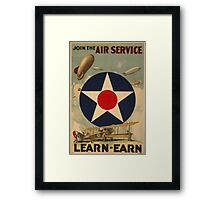Air Service (Reproduction) Framed Print