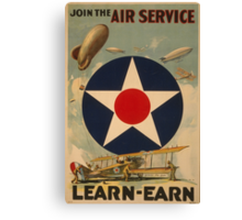 Air Service (Reproduction) Canvas Print