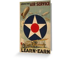 Air Service (Reproduction) Greeting Card