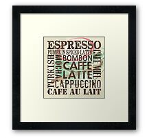 Coffee of the Day 2 Cream Framed Print