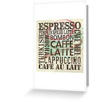 Coffee of the Day 2 Cream Greeting Card
