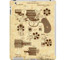 1881 Mason Revolver Firearm Patent - Gun - Revolver iPad Case/Skin