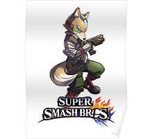 Super Smash Bros. 3DS/Wii U Fox Poster