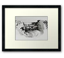 Snowy Gate Framed Print
