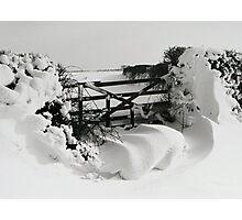 Snowy Gate Photographic Print