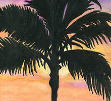 Flagler Beach Palm Tree by Roz Abellera Art Gallery