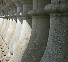 Shadows on stonework by Justine Humphries