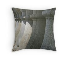 Shadows on stonework Throw Pillow