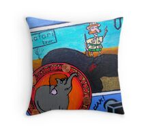 the horrible hunting 2 Throw Pillow