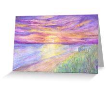 Flagler Beach Sunrise Greeting Card