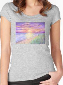 Flagler Beach Sunrise Women's Fitted Scoop T-Shirt