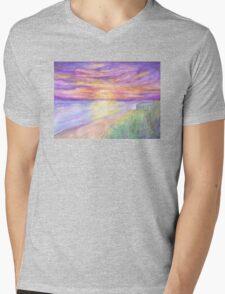 Flagler Beach Sunrise Mens V-Neck T-Shirt