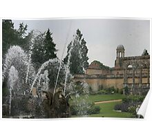 Through the fountain - Witley Court Poster