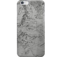 Middle Earth Map iPhone Case/Skin