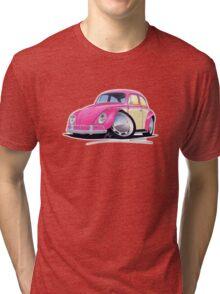 VW Beetle (2-Tone) Pink Tri-blend T-Shirt
