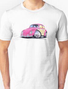 VW Beetle (2-Tone) Pink T-Shirt