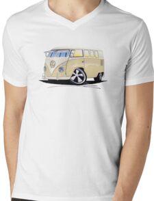 VW Splitty (11 Window) Camper Mens V-Neck T-Shirt
