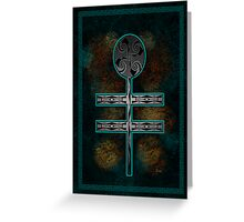 Dragonfly Cross Greeting Card