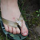 moth on my toe!! by storm22