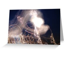 wild fire works Greeting Card
