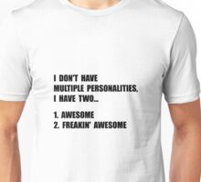 Two Personalities Unisex T-Shirt