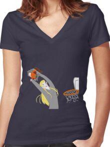 THRANDUIL SLAM DUNKS GIMLI  Women's Fitted V-Neck T-Shirt