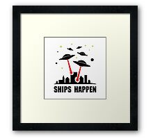 UFO Ships Happen Framed Print