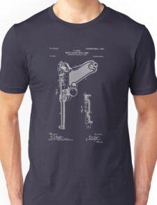 Gun - Pistol - 1904 Luger Patent Art Unisex T-Shirt