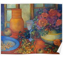 still life with roses Poster