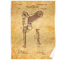1904 Luger Pistol Firearm Patent - Gun - Automatic  Poster