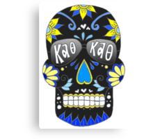 Theta Black Skull Canvas Print