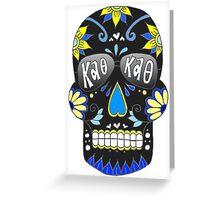 Theta Black Skull Greeting Card
