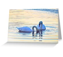Swan Song (6022) Greeting Card