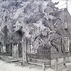 Old Dutch Farmhouse by Arie van der Wijst
