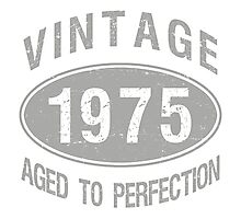 Vintage 1975 Birthday Photographic Print