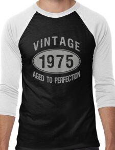 Vintage 1975 Birthday Men's Baseball ¾ T-Shirt