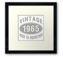 Vintage 1965 Birthday Framed Print