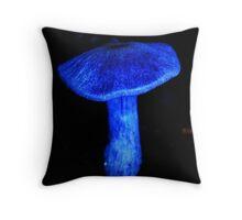 Blue Shroom Throw Pillow