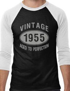 Vintage 1955 Birthday Men's Baseball ¾ T-Shirt