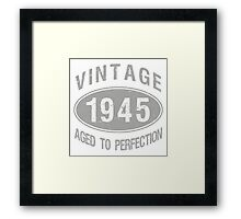Vintage 1945 Birthday Framed Print