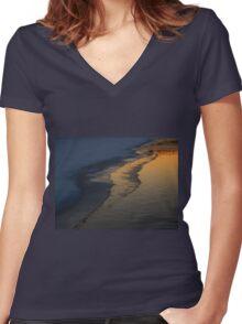 Freezing Over (6042) Women's Fitted V-Neck T-Shirt