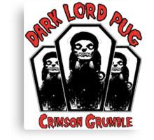 dark lord pug crimson coffin Canvas Print