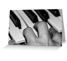 Hand and keyboard Greeting Card